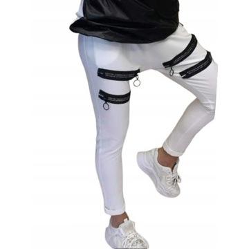 Spodnie baggy białe Alizee od Minouu