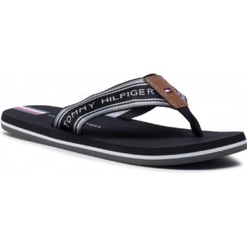 Nowe Japonki TOMMY HILFIGER Logo Tape Beach Sandal