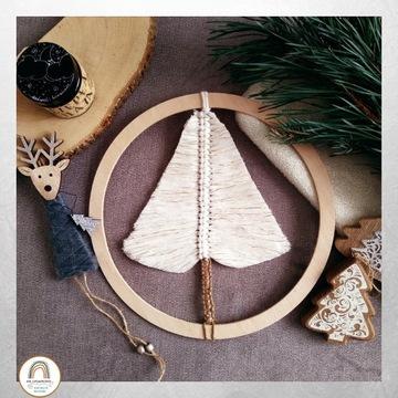 Ozdoby Świąteczne Choinka ze sznurka 25cm