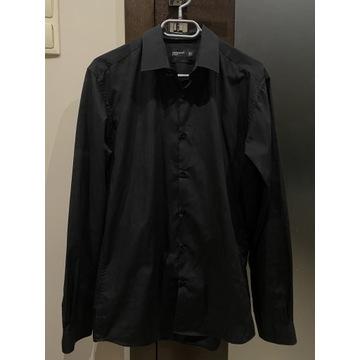 Czarna koszula męska 39 Cedarwood state klasyczna
