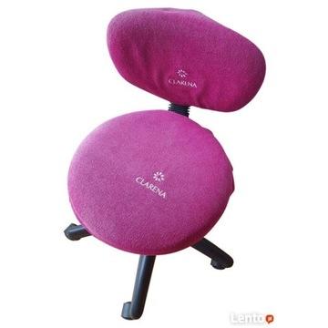 Fotel kosmetyczny z różowym pokrowcem