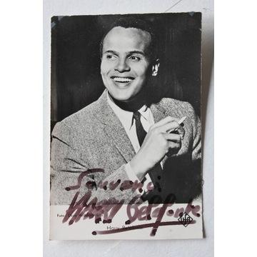 autograf Hary Belafonte