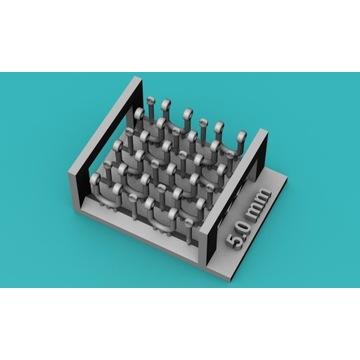 Szekle proste (U) 5,0mm - 10 sztuk - 1:48