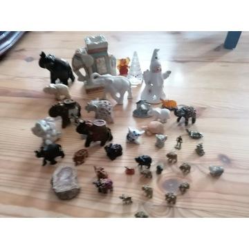 Figurki słonie i inne