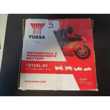 AKUMULATOR MOTOCYKLOWY YUASA YB12AL-A2 12.6AH 150A