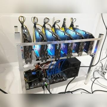 Koparka kryptowalut 12x GTX 1070 8GB 360Mh/s ETH