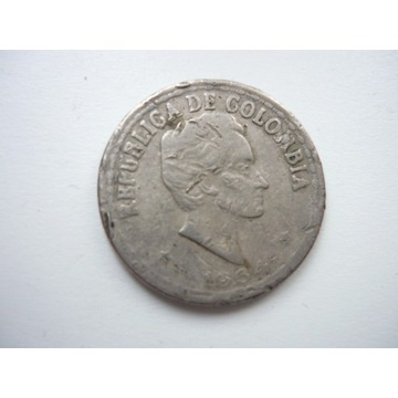 Columbia 1864 ,Veinitz Centavos-srebro