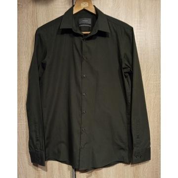 Koszula khaki z długim rękawem rozm. 39