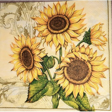 Serwetka decoupage 2 szt słoneczniki kwiaty lato