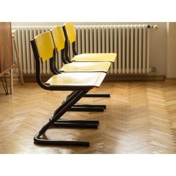 Krzesła do jadalni; styl loft; 3 sztuki