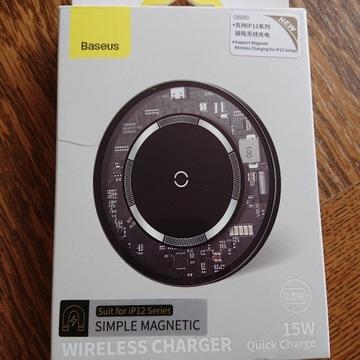 Ładowarka magnetyczna 15W Baseus do iPhone 12