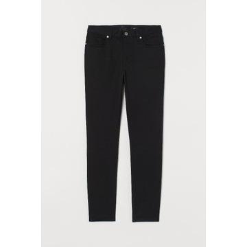 Spodnie z diagonalu Slim Fit H&M rozm. 32 czarne