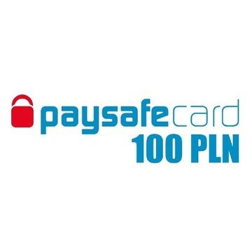 PAY SAFE CARD 100PLN Szybka Wysyłka
