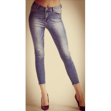 Spodnie dżinsowe roz xs 34 7/8  wysoki stan