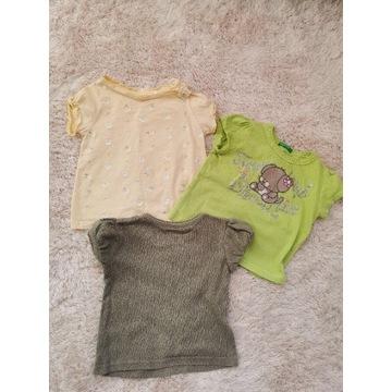 Zestaw, bluzki t-shirt 74 Reserved dziewczynka
