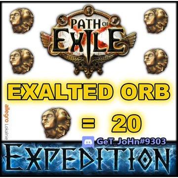 20 EXALTED ORB PATH OF EXILE EXPEDITION POE [PC]