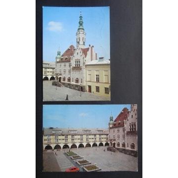 JAWOR - RATUSZ, RYNEK - rok 1981 - 2 pocztówki