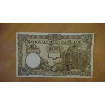 Belgia 100 franków 1921