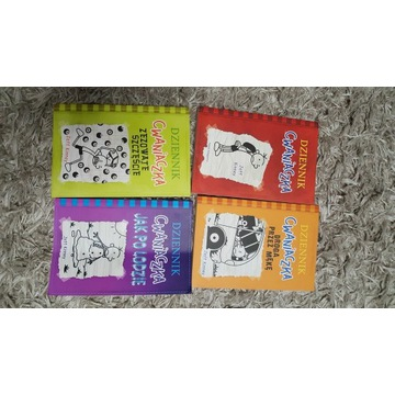 Książki dla dzieci Dziennik Cwaniaczka 4 części