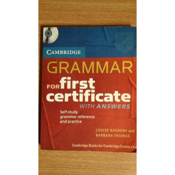 GRAMMAR FOR FIRST CERTIFICATE with answers i1