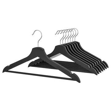 IKEA Komplet wieszaków Bumerang czarne 8 sztuk