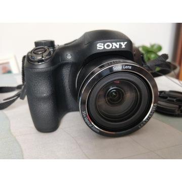 Aparat SONY Cyber shot DSC H300 + dodatki