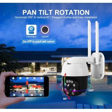 Kamera PTZ zewnętrzna Obrotowa LTE 4G Full HD 5MP