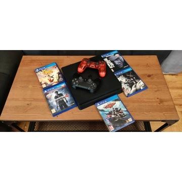Konsola Sony PlayStation 4 slim 1 TB czarny -2xpad