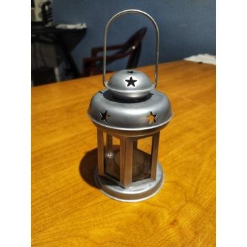 Lampion ze świeczką - metalowy - Nowy