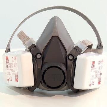 Maska 3M 6200 +Filtry 3M 6035 Ochrona FFP3 P3 KN99