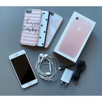 Iphone 7 różowy PINK 128GB ładowarka + słuchwaki