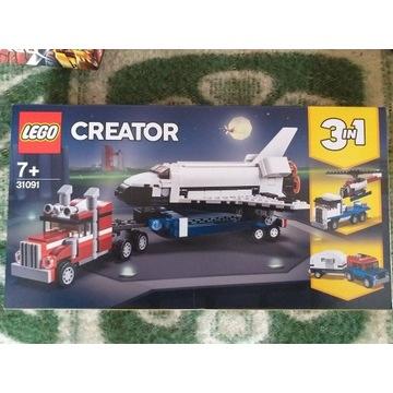 NOWE LEGO Creator 3w1 Transporter promu 31091