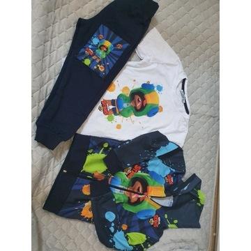 BRAWL Star zestaw bluza spodnie bluzka 104 110