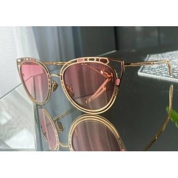 Okulary przeciwsłoneczne Dior różowe złote lato