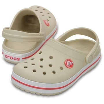 crocs Kids' Crocband Clog Stucco / Melon 33-34
