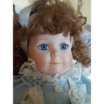 Śliczna lalka porcelanowa 48cm