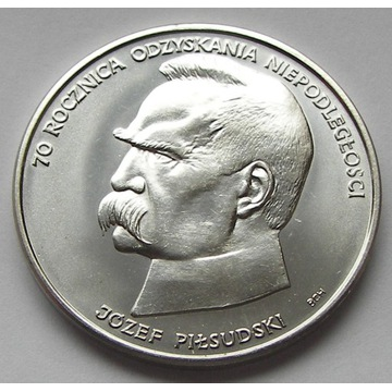 50 000 zł  Józef Piłsudski 1988r. srebro