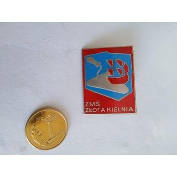 Odznaka ZMS Złota Kielnia
