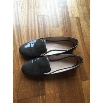 WOJAS skórzane buty rozm 40 ciemny szary