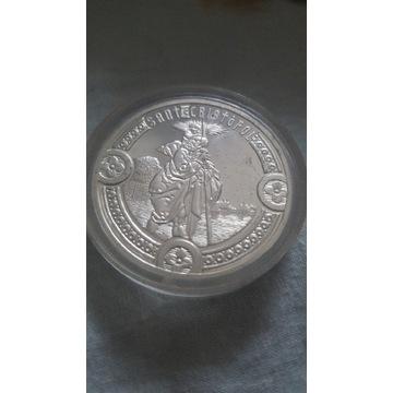 Moneta Andory.srebrna święty Krzysztof
