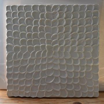 Strukturalny obraz akrylowy; biały