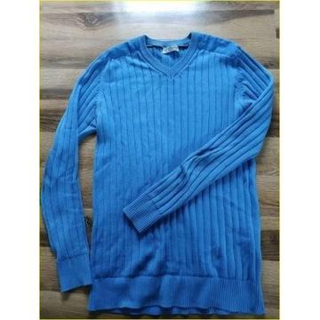Niebieski sweter męski M/L