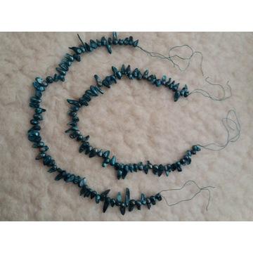 Dwa znury pereł rzecznych 37cm plus 10cm wiązanie