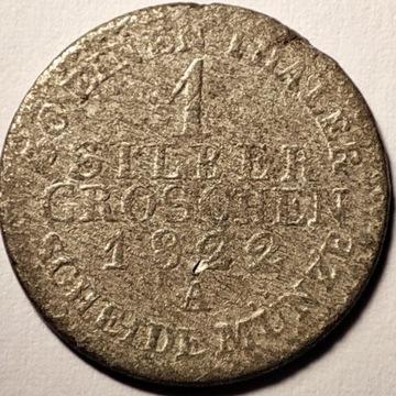 1 silber groschen 1822 A Srebro Ag