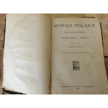 Stara książka WYPISY POLSKIE