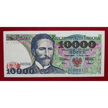 10000 złotych 1987 rok Seria A stan UNC