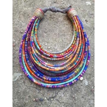 Naszyjnik etniczny boho masajka etno kolia