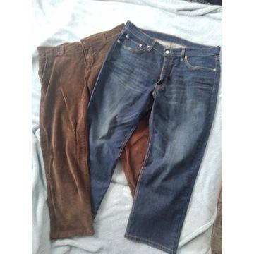 Spodnie dżinsy Levi's W36 sztruksowe Bershka 50 XL