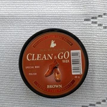Pasta do butów brązowa Clean&Go