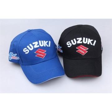Czapka z daszkiem Suzuki XL Czarna Niebieska